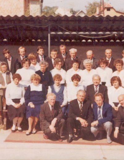 Az énekkar a jubileumon 1985