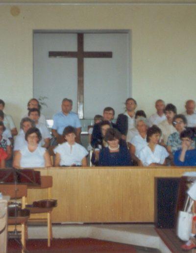 Misszióúton az énekkar Sarkadon 1987