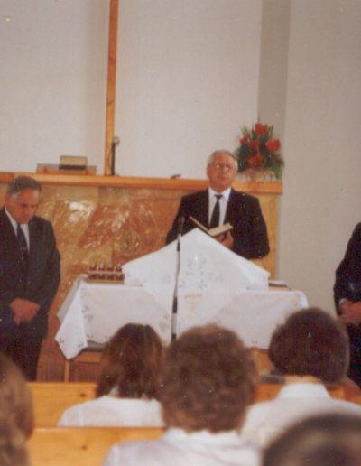 Úrvacsora az új imaházban