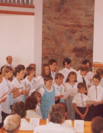 László Gábor búcsúztatásán a fiatalok és a bibliakörösök