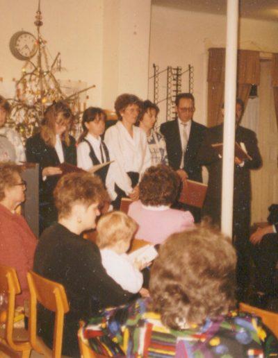 Karácsonyi szolgálat a kis imaházban - 1994-ben