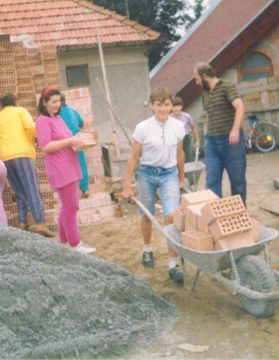 Építkezés, munkások