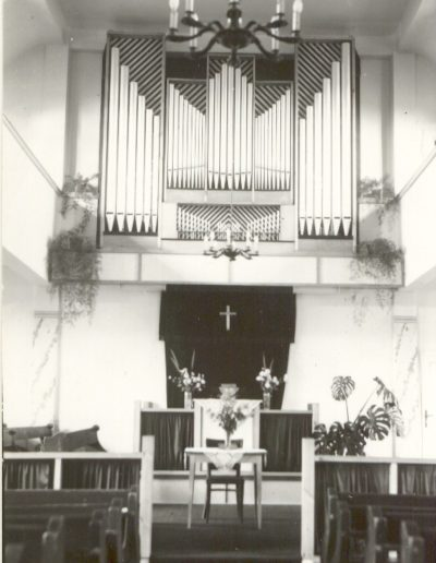1974-ben épített orgona